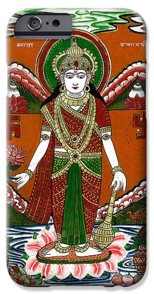 Ek Darshi Mata Vishnu Avatar iPhone Case by Ashok Kumar