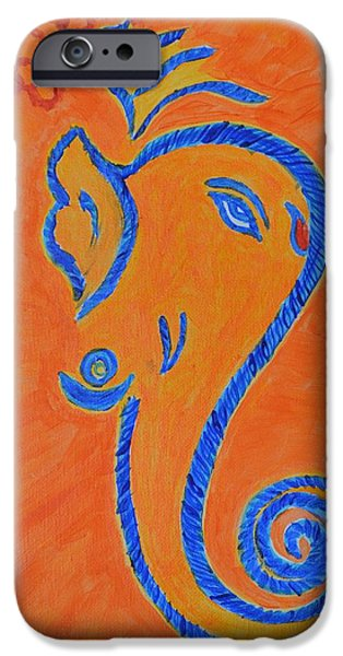 Parvati Paintings iPhone Cases - Ekadrishta iPhone Case by Sonali Gangane