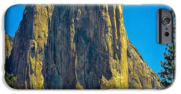 Cathedral Rock iPhone Cases - El Capitan Yosemite National Park iPhone Case by  Bob and Nadine Johnston