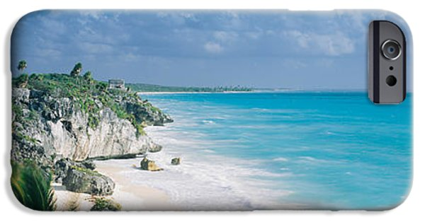 Recently Sold -  - Ruin iPhone Cases - El Castillo, Quintana Roo Caribbean iPhone Case by Panoramic Images