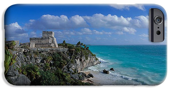 Best Sellers -  - Sand Castles iPhone Cases - El Castillo Tulum Mexico iPhone Case by Panoramic Images