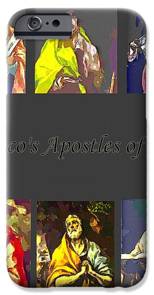 El Greco's Apostles of Christ iPhone Case by Barbara Griffin