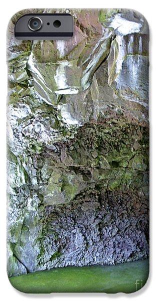 Alga Pyrography iPhone Cases - El Malpais Ice Cave 2 iPhone Case by Birgit Seeger-Brooks