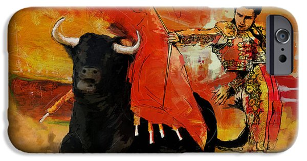 Culture Paintings iPhone Cases - El Matador iPhone Case by Corporate Art Task Force