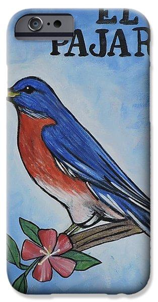 Birds iPhone Cases - El Pajaro  iPhone Case by Jessica  Venzor