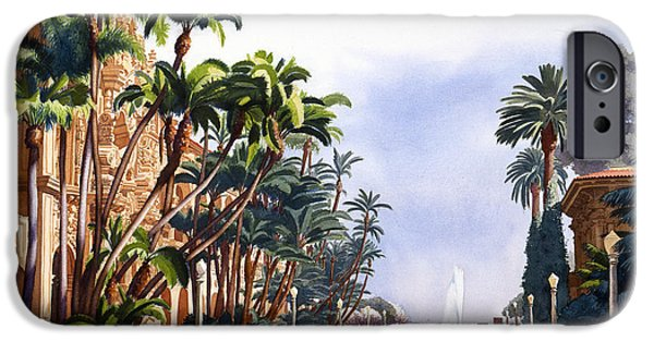 Exhibition iPhone Cases - El Prado in Balboa Park iPhone Case by Mary Helmreich