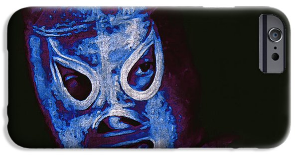 Wwf iPhone Cases - El Santo The Masked Wrestler 20130218m168 iPhone Case by Wingsdomain Art and Photography