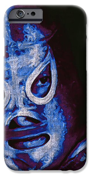 El Santo The Masked Wrestler 20130218m168 iPhone Case by Wingsdomain Art and Photography