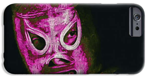 Wwf iPhone Cases - El Santo The Masked Wrestler 20130218m68 iPhone Case by Wingsdomain Art and Photography