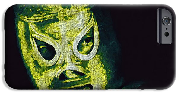 Wwf iPhone Cases - El Santo The Masked Wrestler 20130218p39 iPhone Case by Wingsdomain Art and Photography