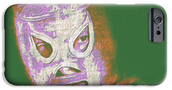 Wwf iPhone Cases - El Santo The Masked Wrestler 20130218v2m128 iPhone Case by Wingsdomain Art and Photography