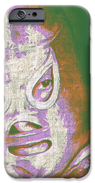 El Santo The Masked Wrestler 20130218v2m128 iPhone Case by Wingsdomain Art and Photography