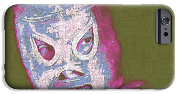 Wwf iPhone Cases - El Santo The Masked Wrestler 20130218v2m168 iPhone Case by Wingsdomain Art and Photography