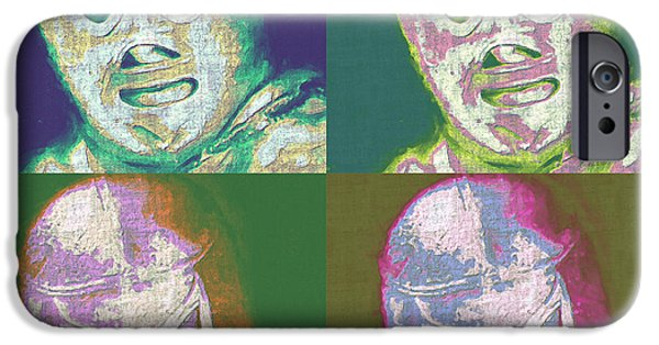 Wwf iPhone Cases - El Santo The Masked Wrestler Four 20130218 iPhone Case by Wingsdomain Art and Photography