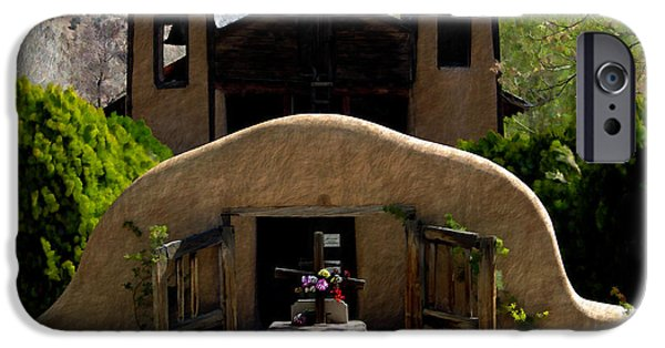 Recent iPhone Cases - El Santuario de Chimayo iPhone Case by Kurt Van Wagner