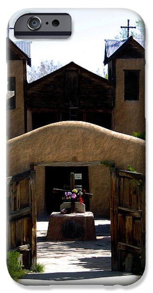 El Santuario de Chimayo iPhone Case by Kurt Van Wagner