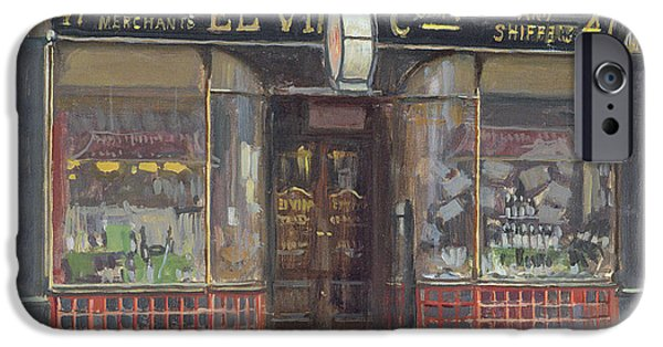 Exterior iPhone Cases - El Vinos, Fleet Street Oil On Canvas iPhone Case by Julian Barrow