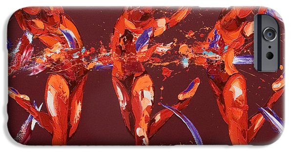 Figures Paintings iPhone Cases - Elation iPhone Case by Penny Warden