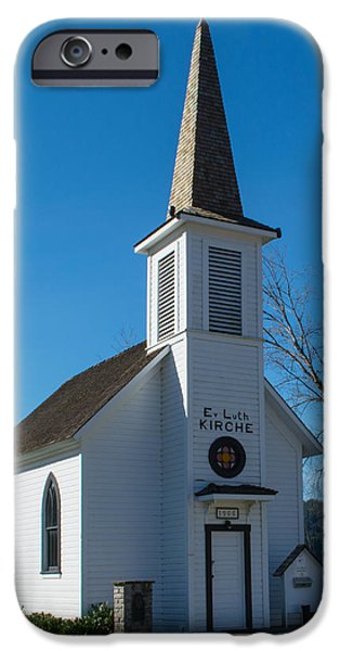 Luth iPhone Cases - Elbe Historic Church iPhone Case by Roger Reeves  and Terrie Heslop