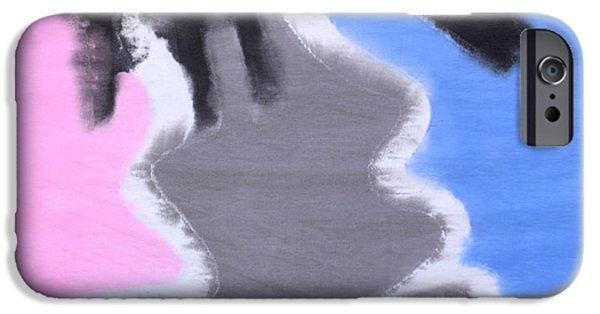 Pink Tapestries - Textiles iPhone Cases - Elbeso 23 iPhone Case by Jorge Berlato