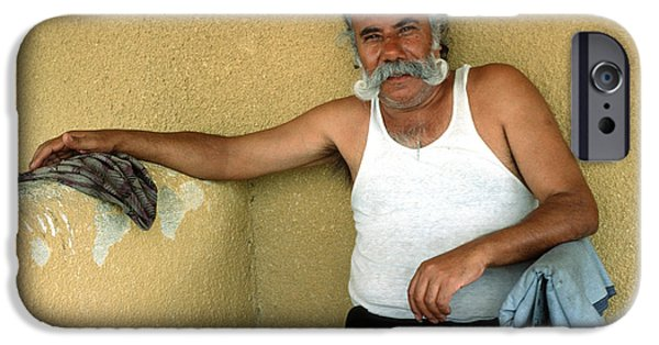 Impartial iPhone Cases - Elderly Man Relaxing iPhone Case by Mark Goebel