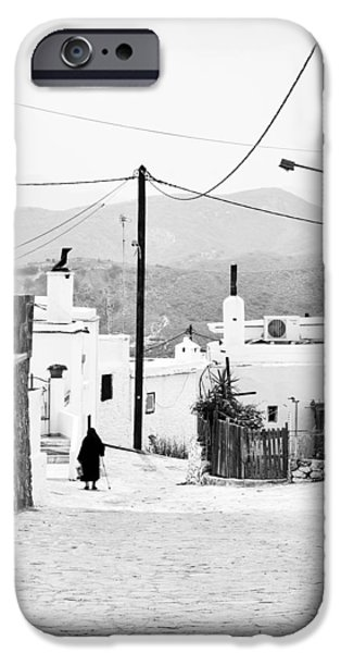 Rhodes iPhone Cases - Elderly woman in Asclipio iPhone Case by Jimmy Karlsson