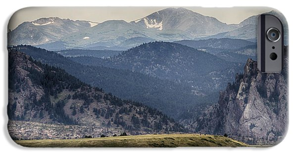 Corporate Art Photographs iPhone Cases - Eldorado Canyon and Continental Divide Above iPhone Case by James BO  Insogna