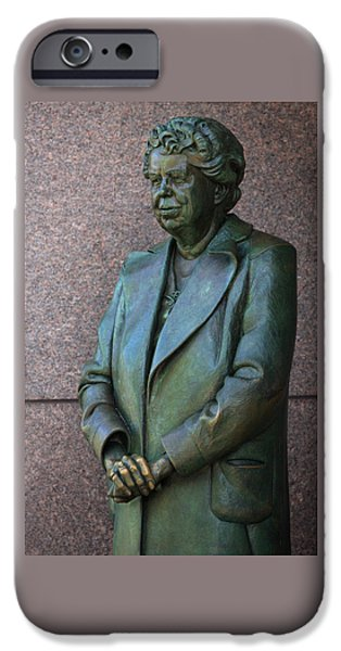 Flotus iPhone Cases - Eleanor Roosevelt Memorial Detail iPhone Case by John Cardamone