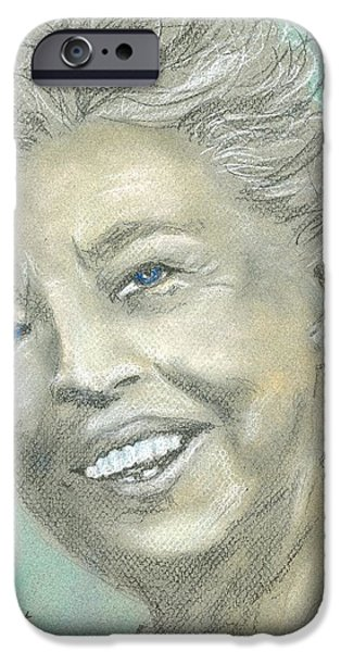 First Lady iPhone Cases - Eleanor Roosevelt iPhone Case by P J Lewis