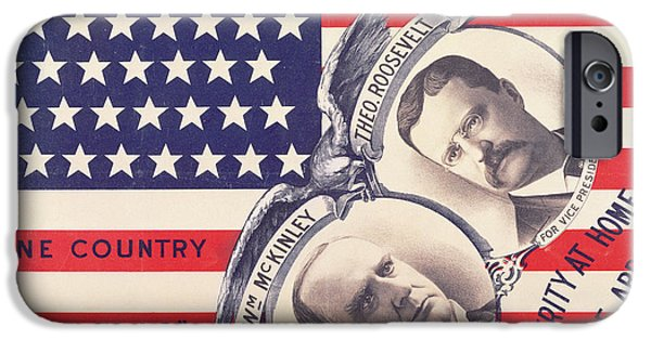Presidential Elections iPhone Cases - Electoral Poster for the American Presidential Election of 1900 iPhone Case by American School
