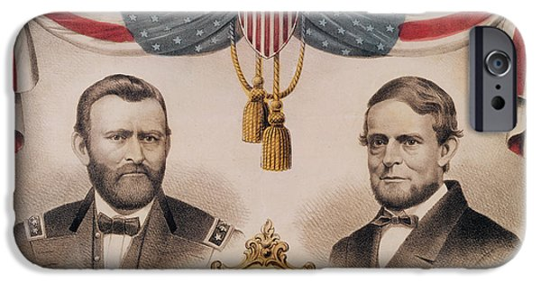 Presidential Elections iPhone Cases - Electoral Poster for the USA Presidential Election of 1868 iPhone Case by American School