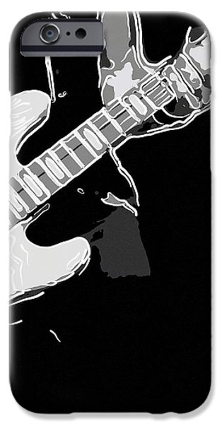 Electronic iPhone Cases - Electric bass iPhone Case by Toppart Sweden