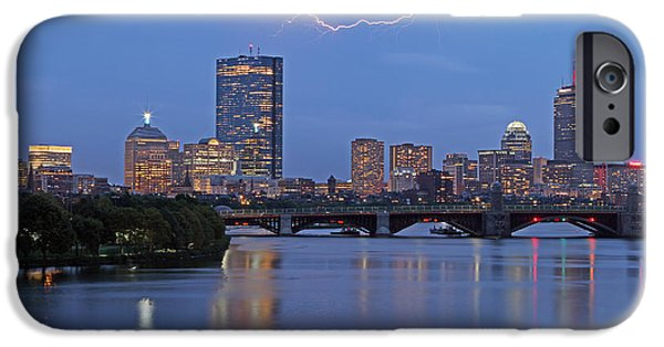 Recently Sold -  - Charles River iPhone Cases - Electric Boston iPhone Case by Juergen Roth