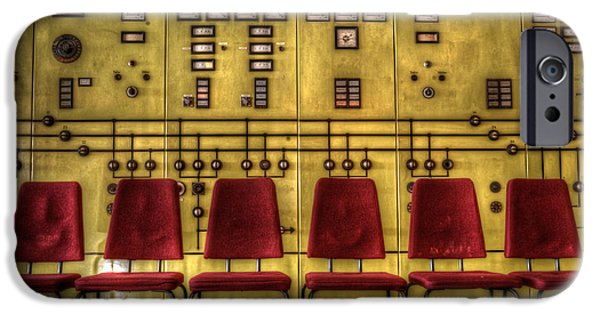 Electrical Equipment Digital Art iPhone Cases - Electric chairs iPhone Case by Nathan Wright