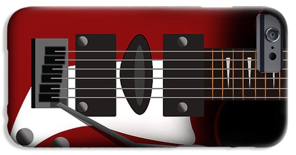 Animation iPhone Cases - Electric Guitar iPhone Case by Mark Ashkenazi