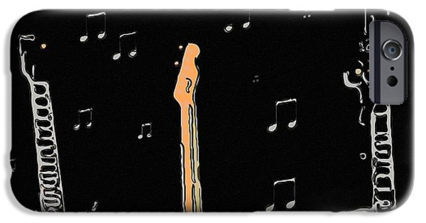 Electronic iPhone Cases - Electric guitars iPhone Case by Toppart Sweden