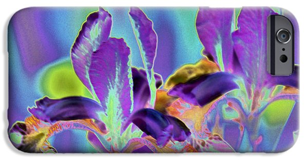 Blue Abstracts iPhone Cases - Electric Iris iPhone Case by Jamia Kelly