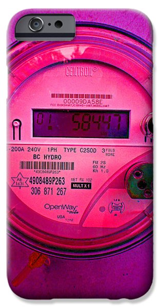 Power iPhone Cases - Electric Meter iPhone Case by Laurie Tsemak