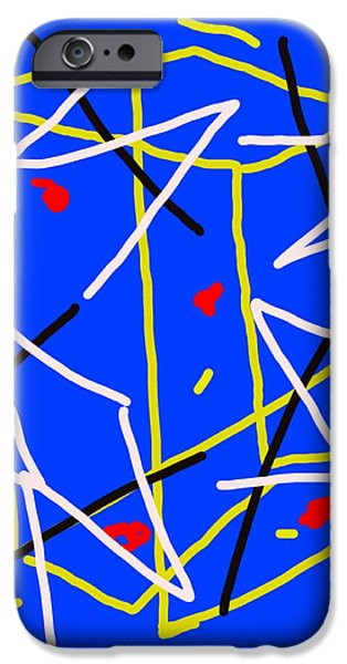 Zeus Digital Art iPhone Cases - Electric Midnight iPhone Case by Paulo Guimaraes