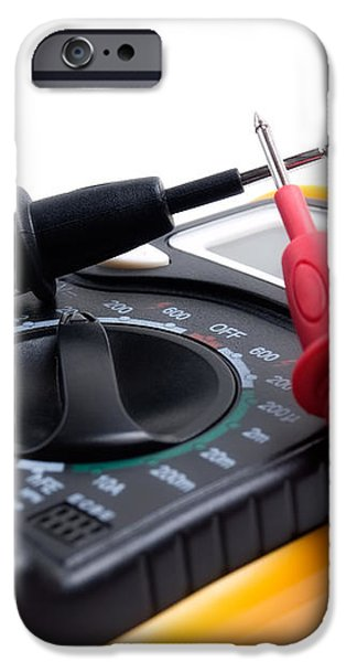 Electric multimeter iPhone Case by Sinisa Botas