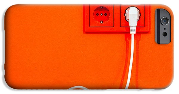 Electrical Equipment iPhone Cases - Plugged in iPhone Case by Alexey Stiop