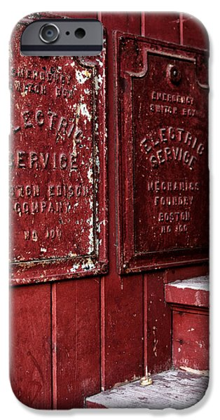 Electric Service in Boston iPhone Case by John Rizzuto