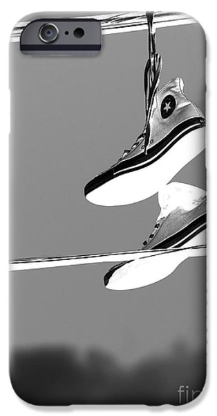 Missing Child iPhone Cases - Electric Shoes iPhone Case by Steven Milner