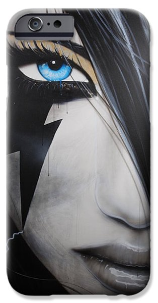 Hand Paint Brushed iPhone Cases - Electric Sin iPhone Case by Christian Chapman Art