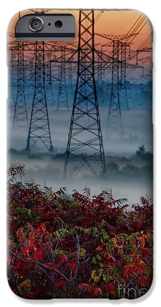 Electrical iPhone Cases - Electric Sumac Autumn iPhone Case by Henry Kowalski
