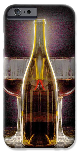 Wine Bottles iPhone Cases - Electric Wine iPhone Case by Jon Neidert