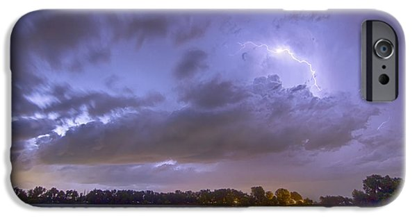 The Lightning Man iPhone Cases - Electrical Arcing Cloud iPhone Case by James BO  Insogna