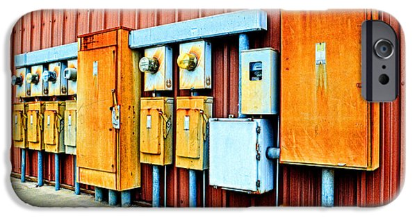 Electrical Equipment iPhone Cases - Electrical Boxes I iPhone Case by Debbie Portwood