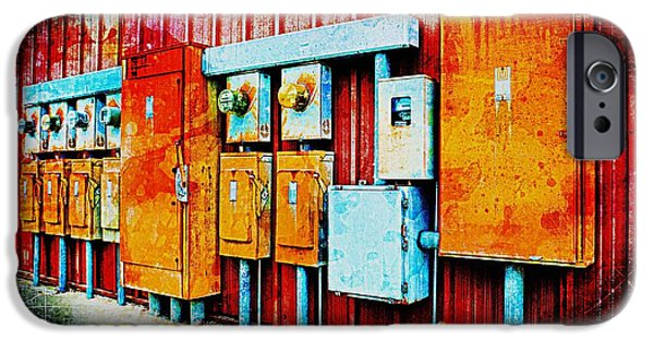 Electrical Equipment iPhone Cases - Electrical Boxes II iPhone Case by Debbie Portwood