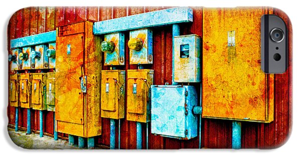 Electrical Equipment iPhone Cases - Electrical Boxes IV iPhone Case by Debbie Portwood